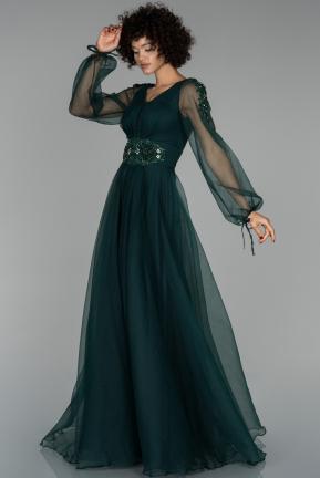 Lang Smaragdgrun V Ausschnitt Grosse 42 Stein Abendkleider Abiyefon Com