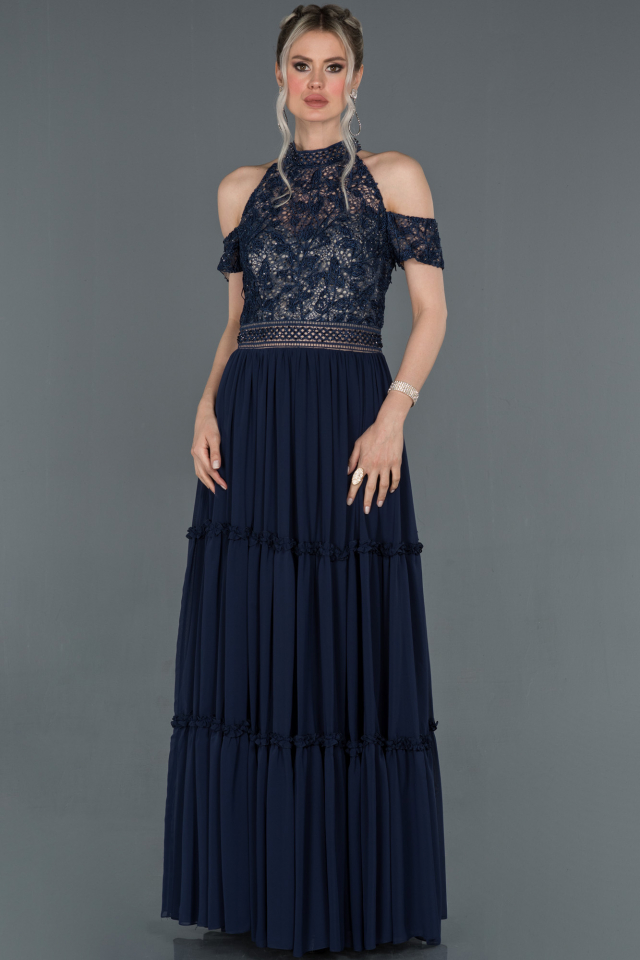 Designer Abendkleid Lang Marineblau Abu1213 Abiyefon Com