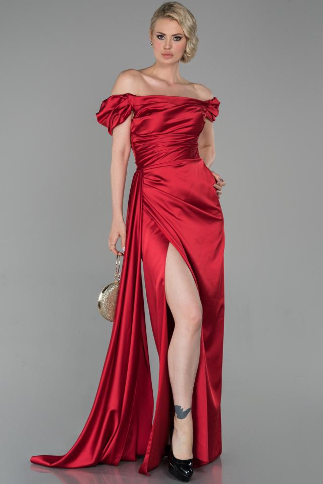 Kleid rot satin lang Rotes satin